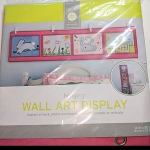 NEW Wall Art Organizer Display Pink Clear Windows
